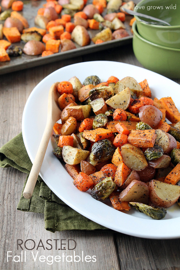 Thanksgiving Roasted Vegetables  Slow Cooker Butter and Herb Turkey Breast Love Grows Wild