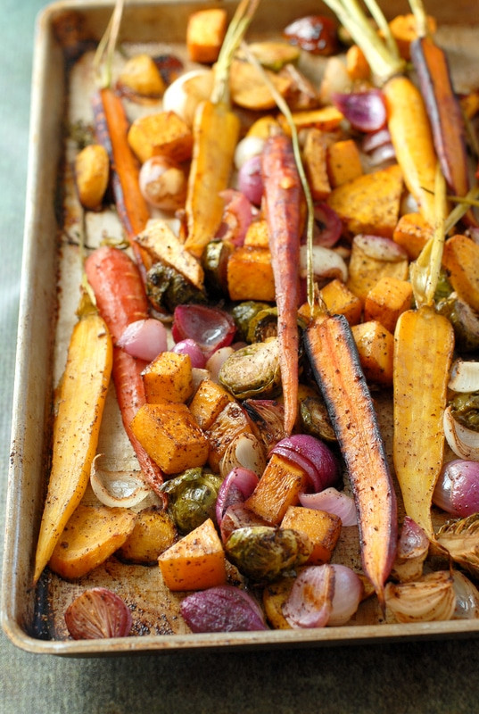 Thanksgiving Roasted Vegetables  Balsamic Roasted Fall Ve ables with Sumac