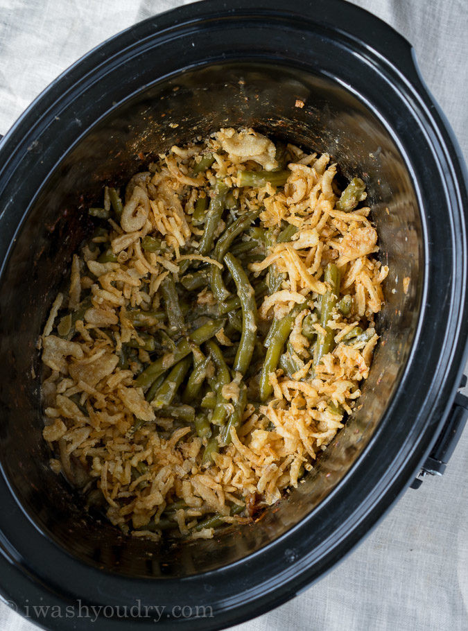 Thanksgiving Side Dishes Crock Pot  Crock Pot Green Bean Casserole I Wash You Dry