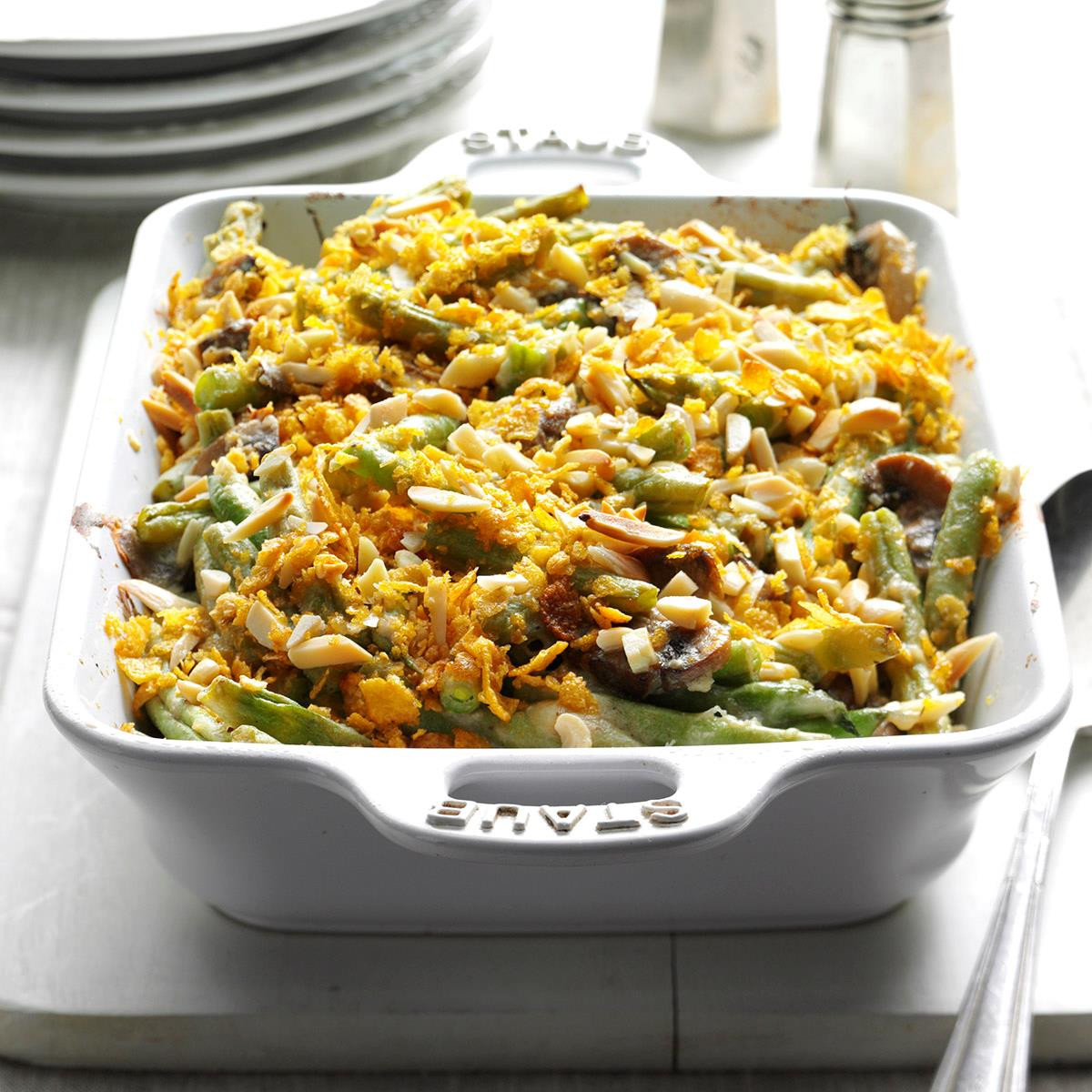 Thanksgiving Side Dishes For A Crowd  Holiday Green Bean Casserole Recipe
