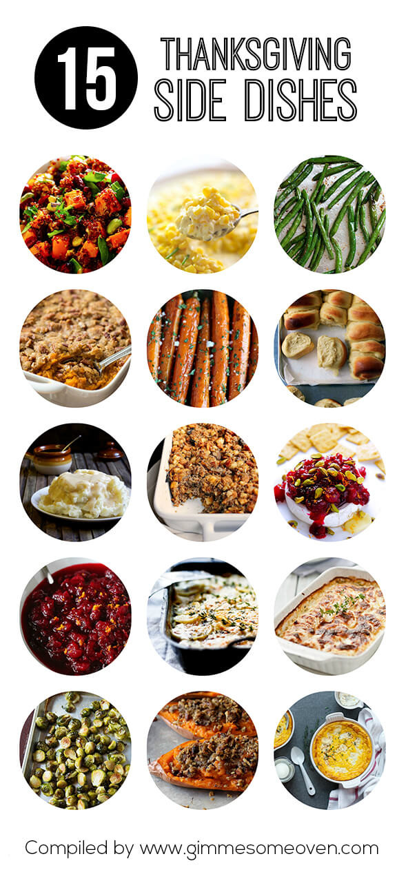 Thanksgiving Side Dishes  15 Thanksgiving Side Dishes