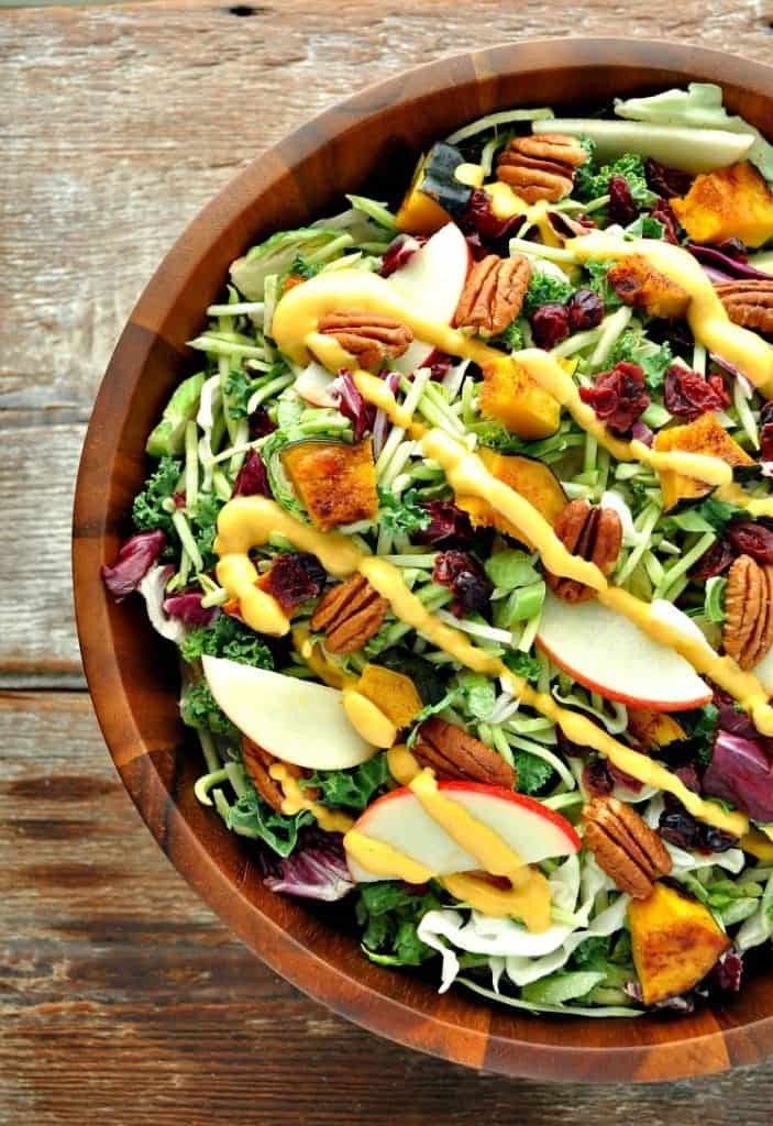 Thanksgiving Side Salads  Healthy Thanksgiving Side Dish Fall Harvest Salad with