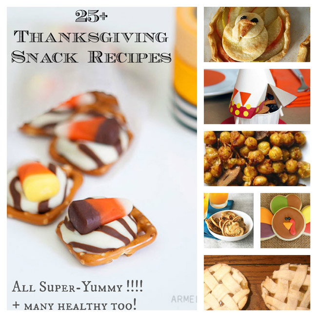 Thanksgiving Snacks Recipes  25 Sweet Savory Thanksgiving Snacks &Treats for Kids