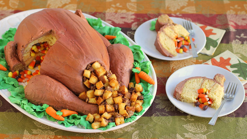 Thanksgiving Snacks Recipes  Thanksgiving Turkey Cake Recipe Tablespoon