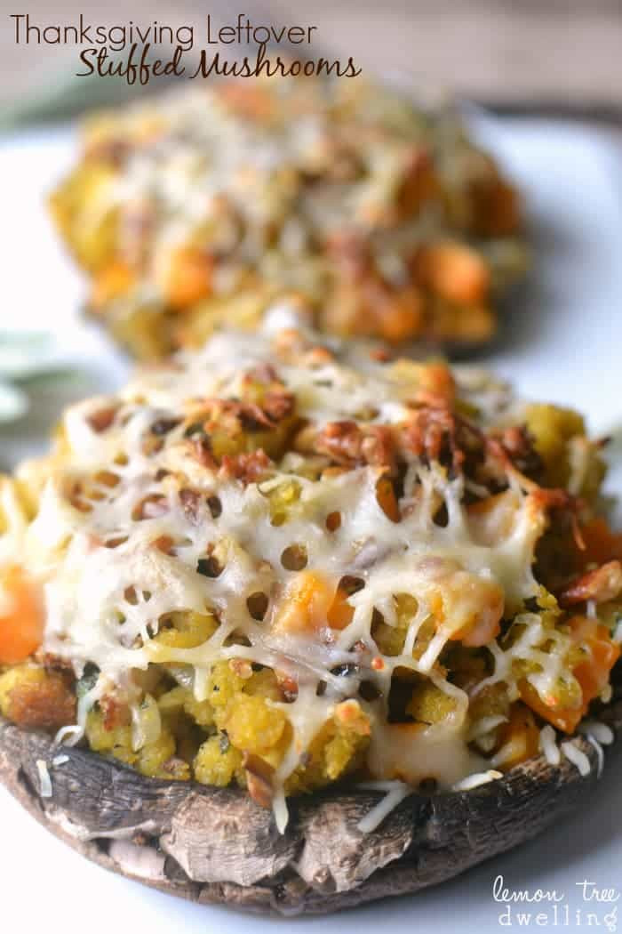 Thanksgiving Stuffed Mushrooms  Thanksgiving Leftover Stuffed Mushrooms