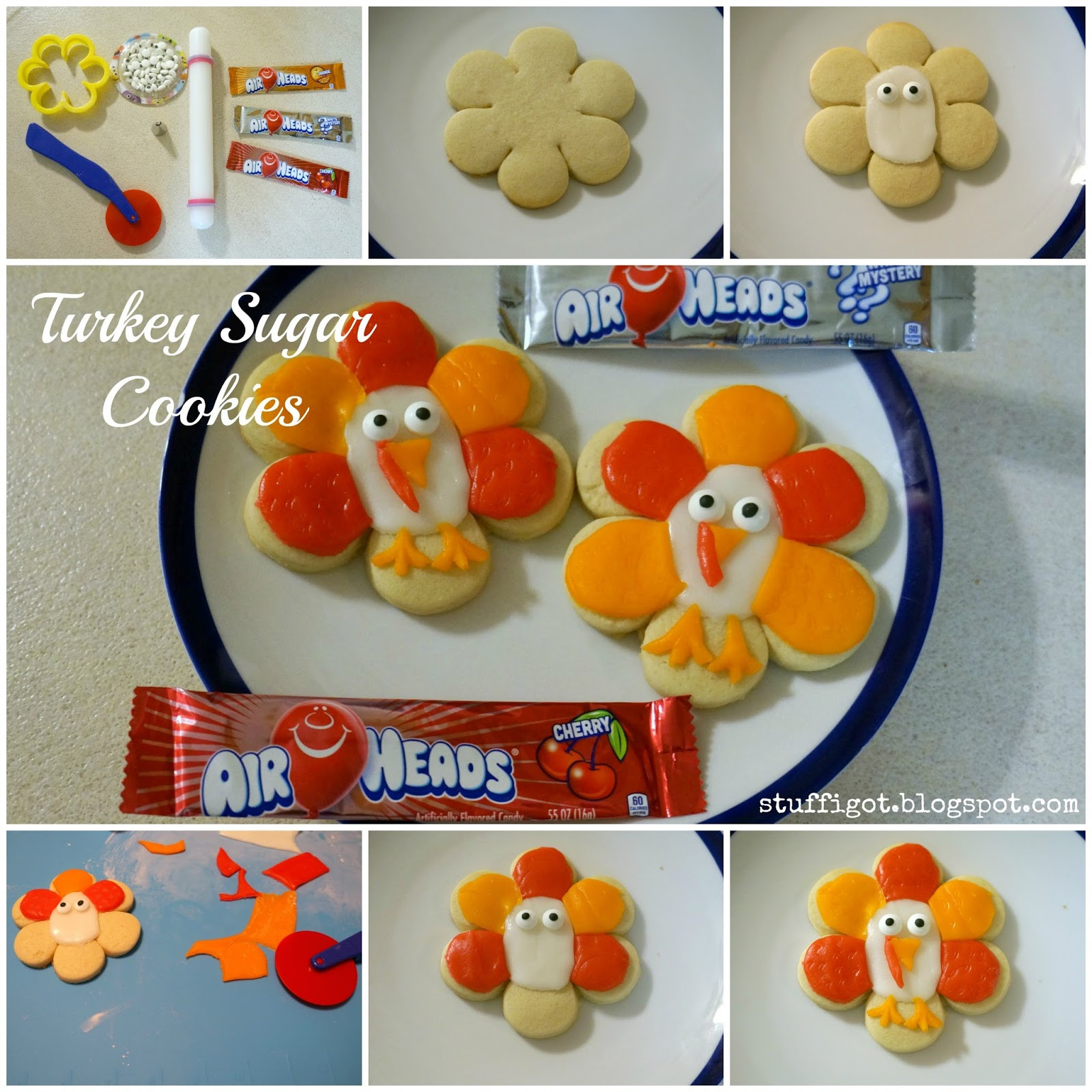Thanksgiving Sugar Cookies  Crafty And Wanderfull Life Thanksgiving Turkey Sugar