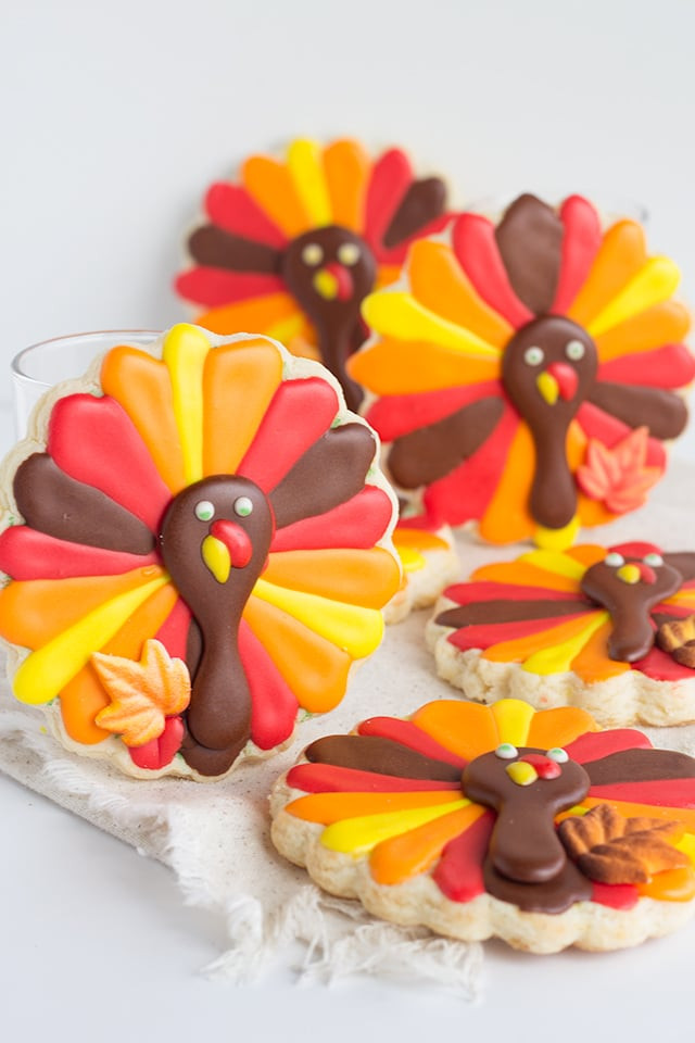 Thanksgiving Sugar Cookies  Turkey Cookies Thanksgiving cookie recipe
