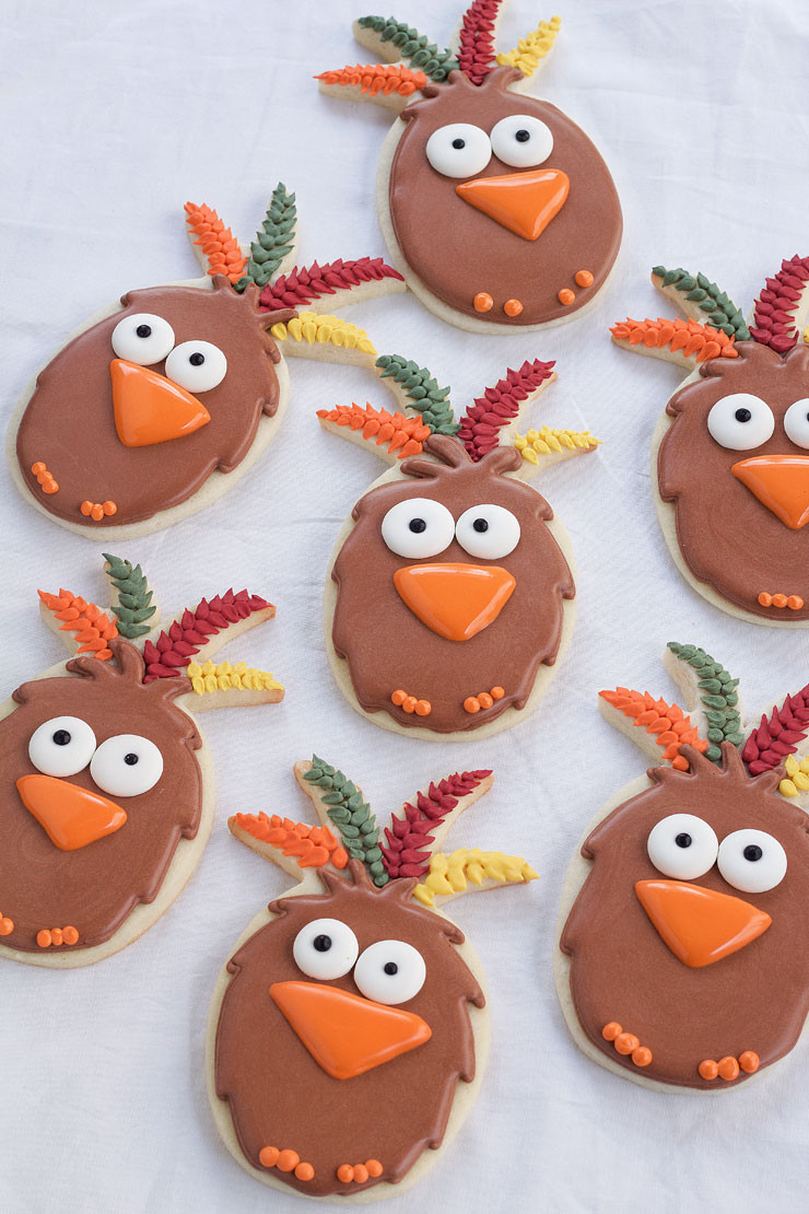 Thanksgiving Sugar Cookies  Easy Turkey Cookies Pineapple Cutter