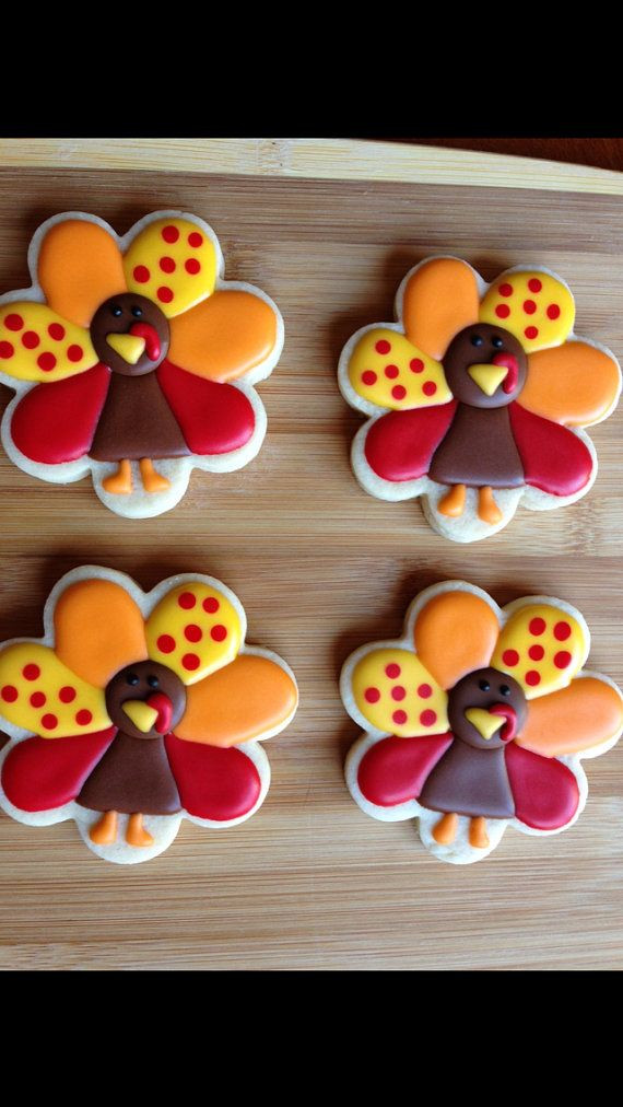 Thanksgiving Sugar Cookies  1 dozen turkeys made with only the finest ingre nts