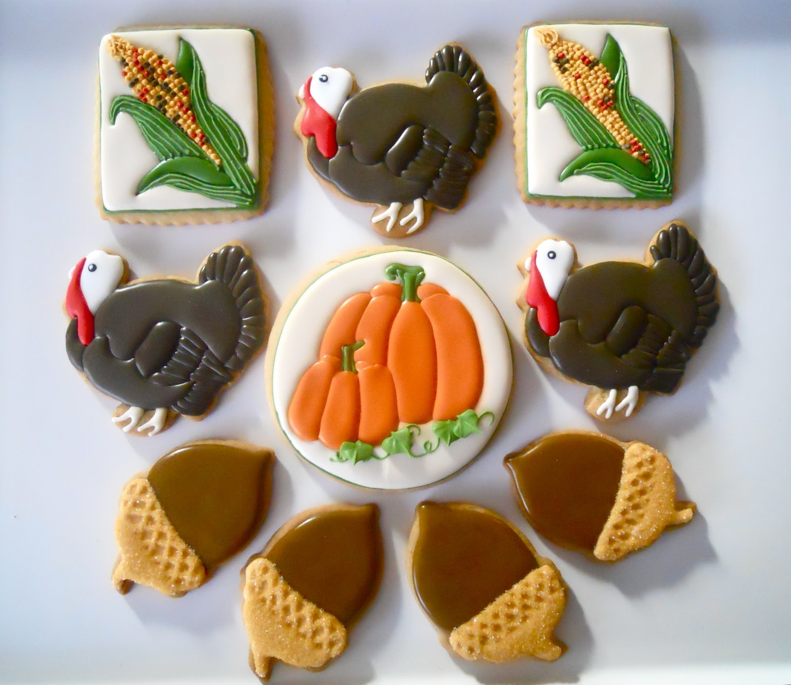 Thanksgiving Sugar Cookies  Oh Sugar Events Happy Thanksgiving