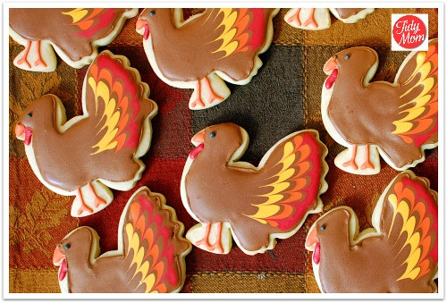 Thanksgiving Sugar Cookies  Edible Thanksgiving Place Cards