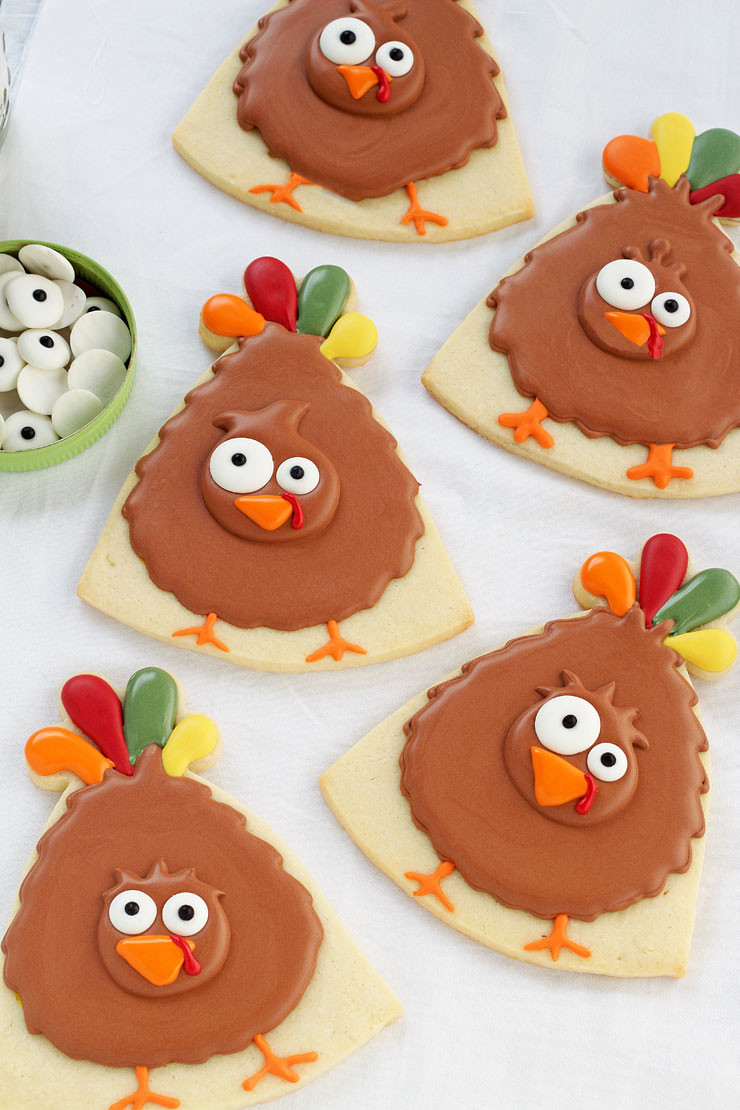Thanksgiving Sugar Cookies  Simple Turkey Cookies