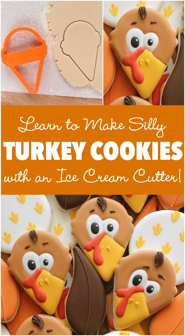 Thanksgiving Sugar Cookies  Decorated Turkey Face Cookies – The Sweet Adventures of