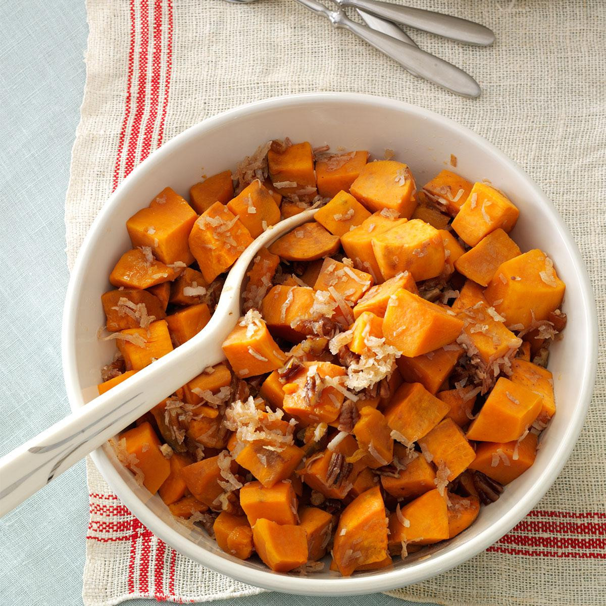 Thanksgiving Sweet Potatoes  Coconut Pecan Sweet Potatoes Recipe