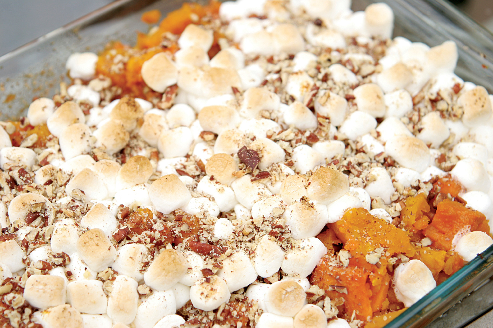 Thanksgiving Sweet Potatoes With Marshmallows  d Recipe Sweet Potatoes with Texas Pete Fiery Sweet