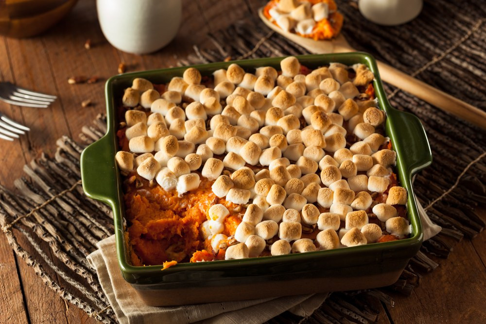 Thanksgiving Sweet Potatoes With Marshmallows  Brown Sugar Glazed Sweet Potatoes with Marshmallows recipe