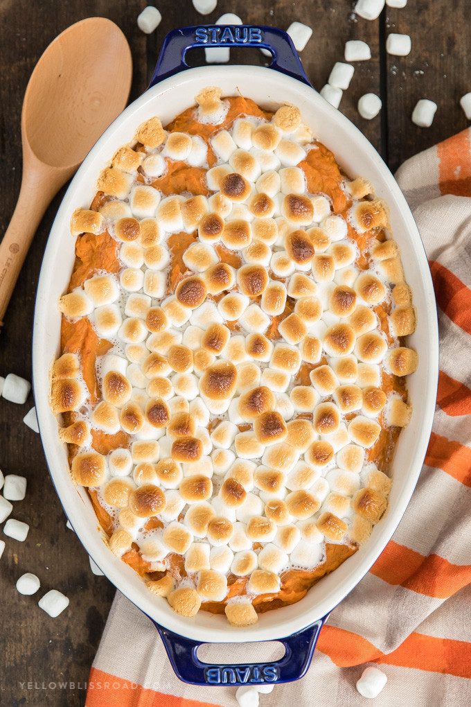 Thanksgiving Sweet Potatoes With Marshmallows  The Best Sweet Potato Casserole Recipe