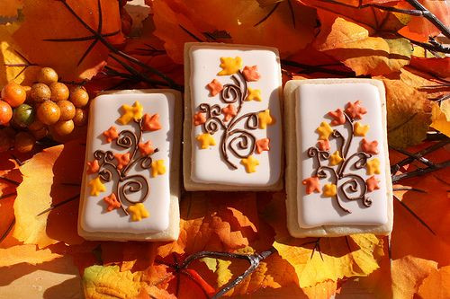 Thanksgiving Themed Desserts  Fall Themed Cookies