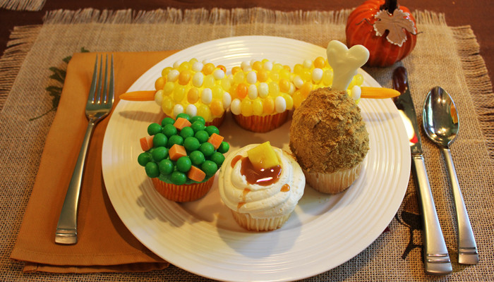 Thanksgiving Themed Desserts  How to make Corn on the Cob & Turkey Leg Cupcakes