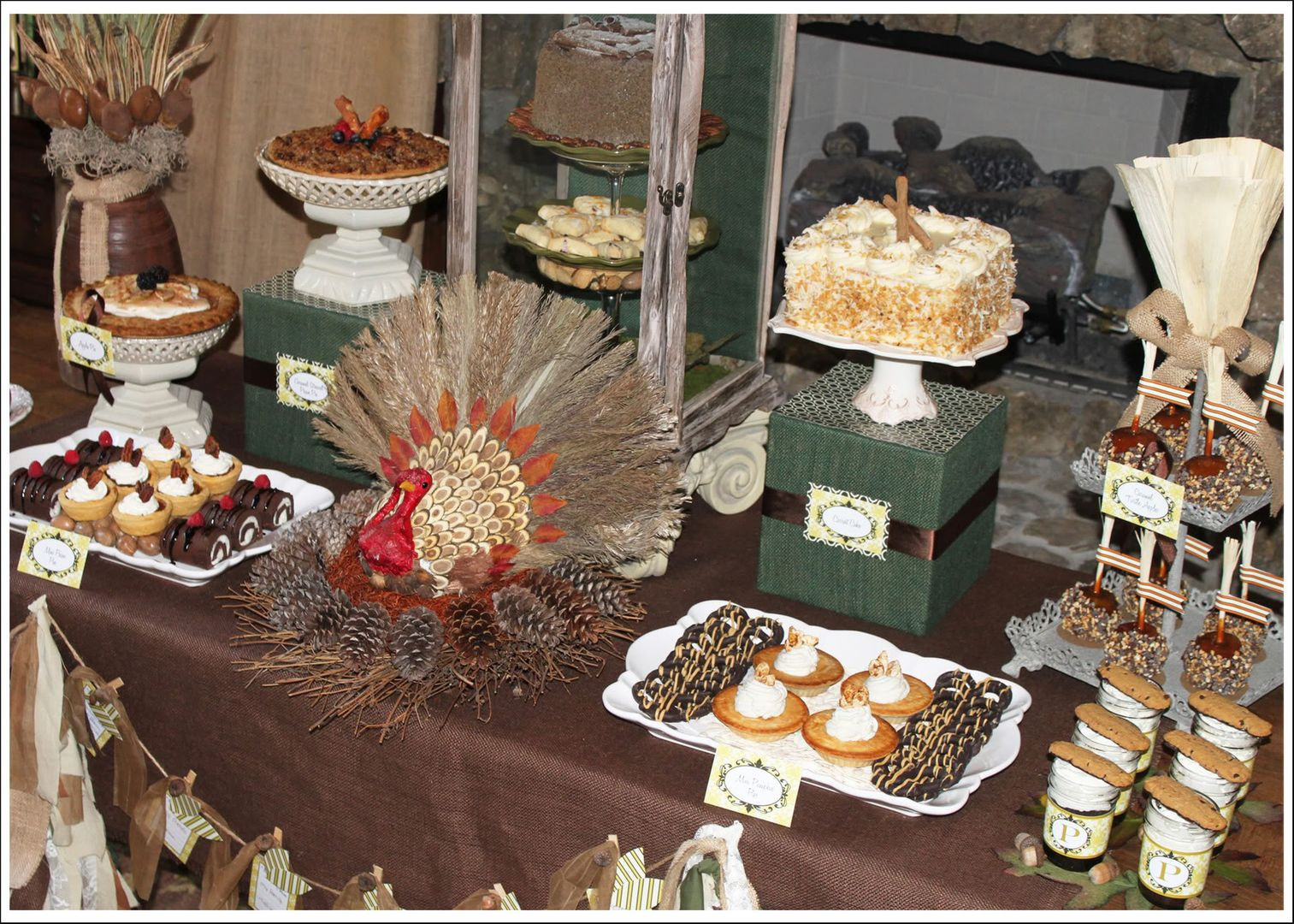 Thanksgiving Themed Desserts  Amanda s Parties To Go Rustic Thanksgiving Dessert Table