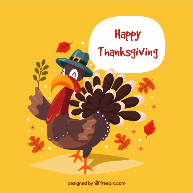 Thanksgiving Turkey Background  Happy thanksgiving turkey background Vector