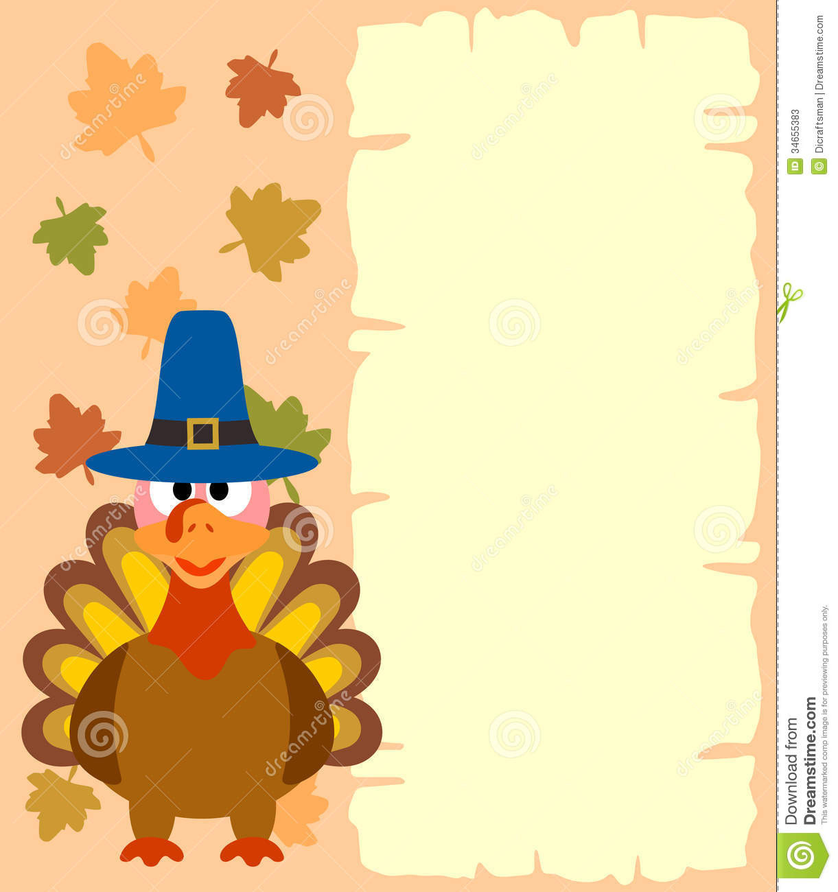 Thanksgiving Turkey Background  Thanksgiving Background With Turkey Stock Vector