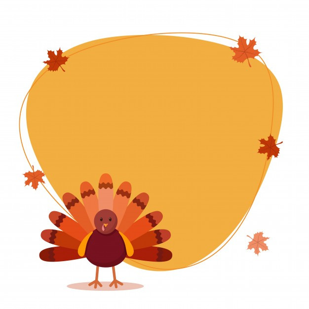 Thanksgiving Turkey Background  Thanksgiving day background with turkey bird Vector
