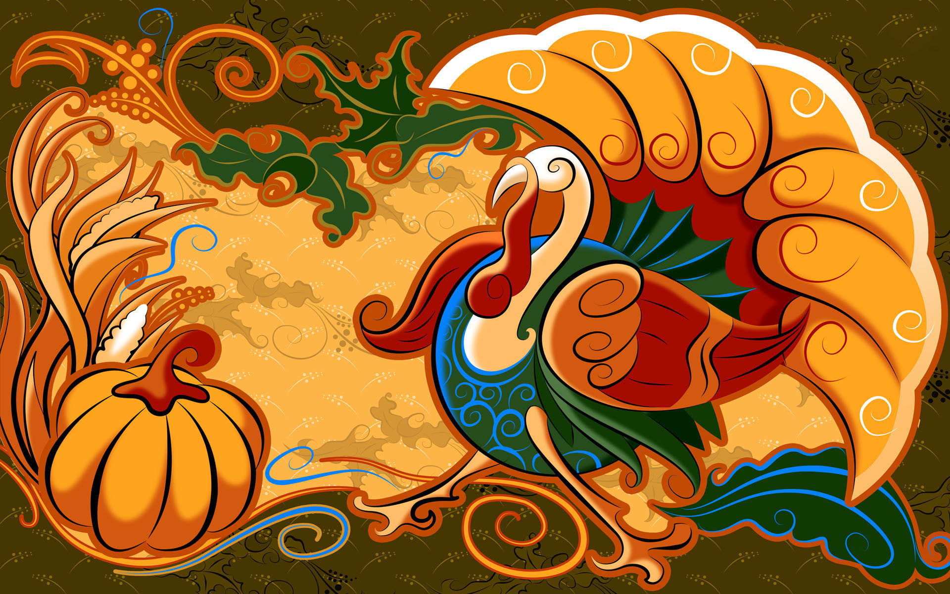 Thanksgiving Turkey Background  25 Happy Thanksgiving Day 2012 HD Wallpapers – Designbolts