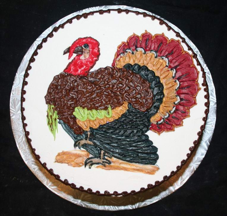 Thanksgiving Turkey Cake  The Wonderful World of Thanksgiving Cakes