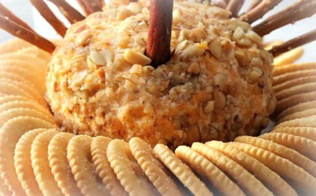 Thanksgiving Turkey Cheese Ball  Thanksgiving Turkey Cheese Ball