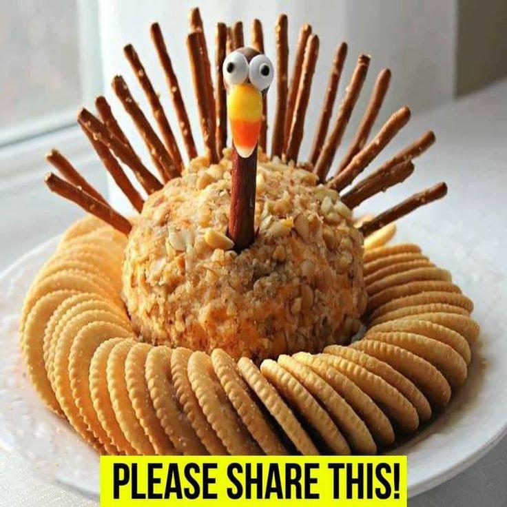 Thanksgiving Turkey Cheese Ball  Best 25 Turkey cheese ball ideas on Pinterest