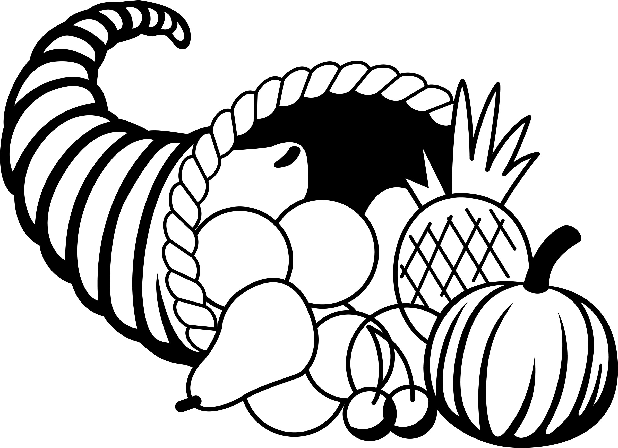 Thanksgiving Turkey Clipart Black And White  Thanksgiving Black And White Clipart Clipart Suggest