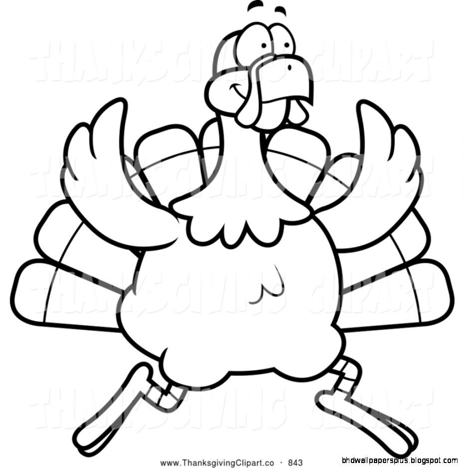 Thanksgiving Turkey Clipart Black And White  Thanksgiving Clip Art Black And White