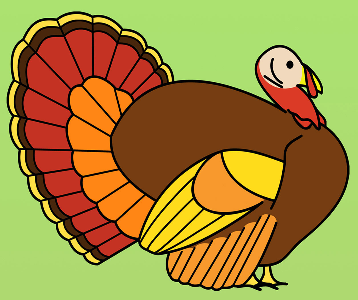 Thanksgiving Turkey Clipart  Clip Art Cardinal Color