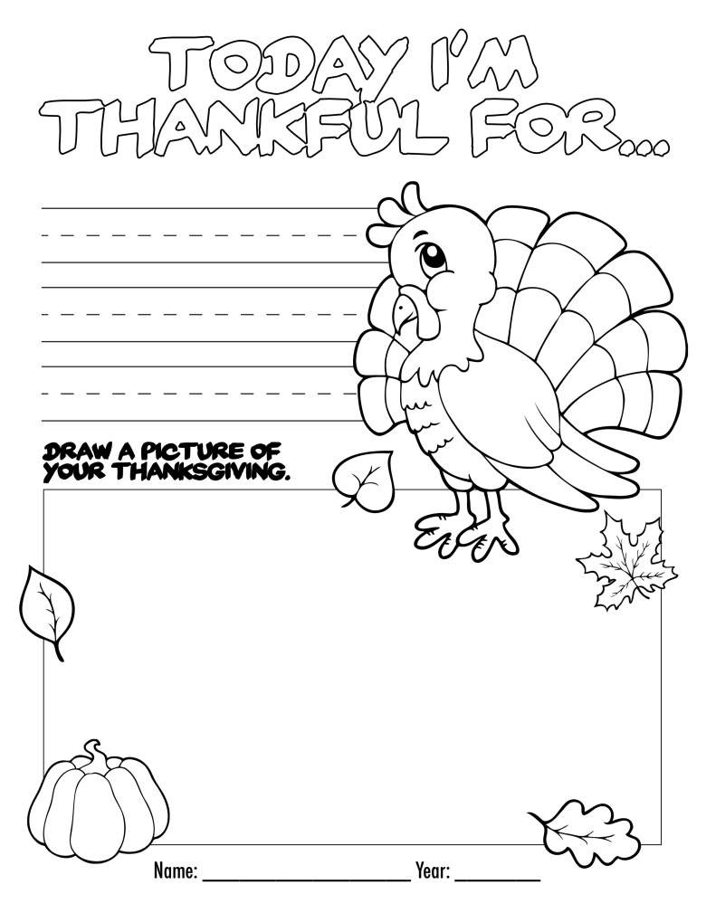 Thanksgiving Turkey Coloring Pages Printables  Printables & Free Thanksgiving Kids Activities Coloring