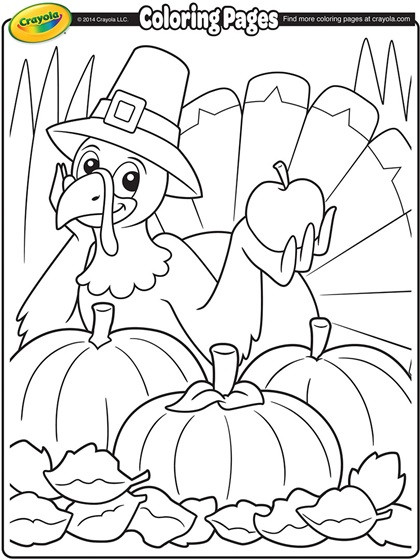 Thanksgiving Turkey Coloring Pages Printables  Thanksgiving Turkey Cartoon Coloring Page