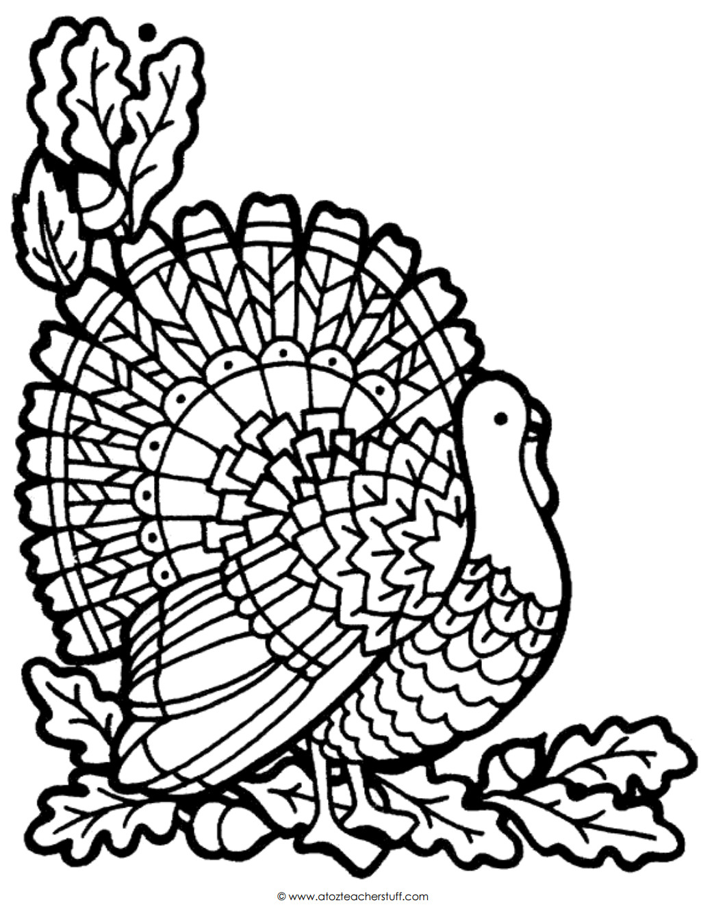 Thanksgiving Turkey Coloring Pages Printables  Turkey Coloring Page