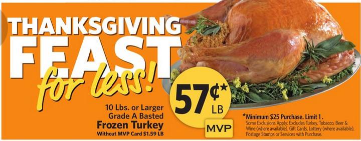 Thanksgiving Turkey Deals  Food Lion Turkey Deal Happy Thanksgiving