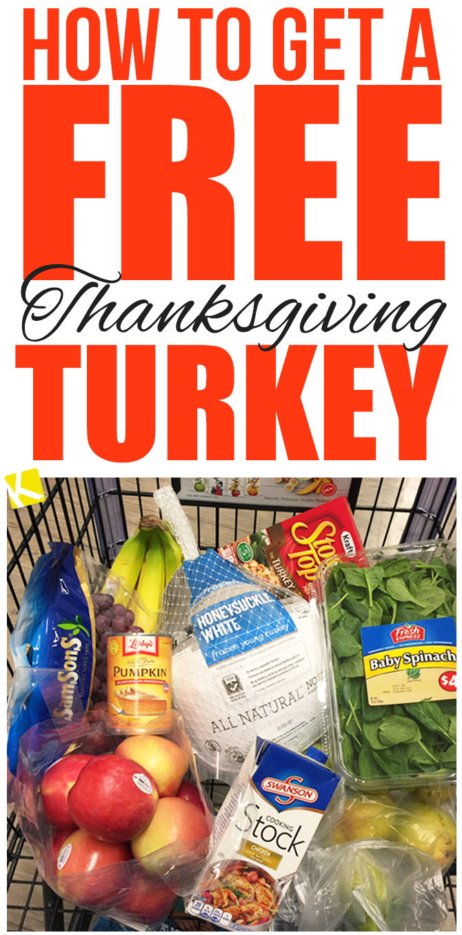 Thanksgiving Turkey Deals  How to Get a Free Thanksgiving Turkey The Krazy Coupon Lady