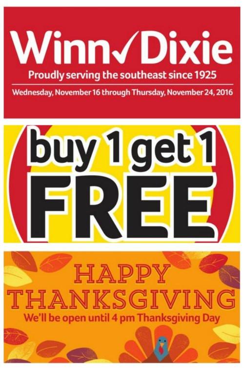 Thanksgiving Turkey Deals  Winn Dixie Thanksgiving Deals Thanksgiving Deals
