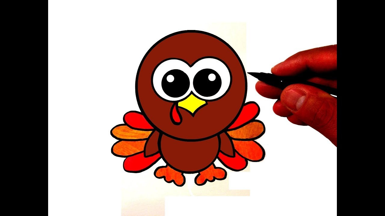 Thanksgiving Turkey Drawing  How to Draw a Cute Turkey