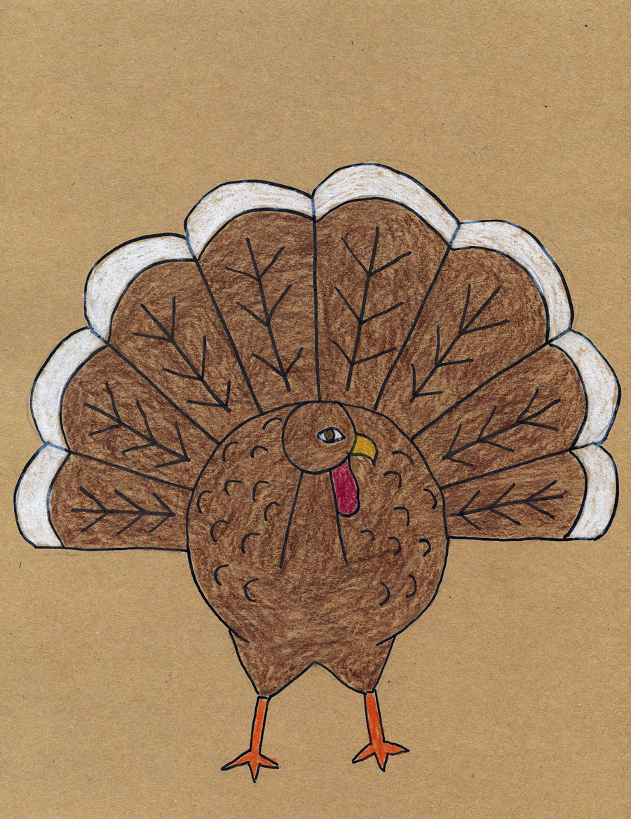 Thanksgiving Turkey Drawing  How To Draw A Turkey Tutorial