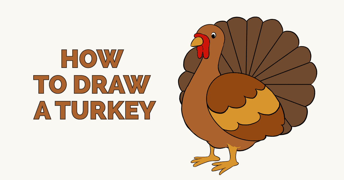 Thanksgiving Turkey Drawing  How to Draw a Turkey Really Easy Drawing Tutorial