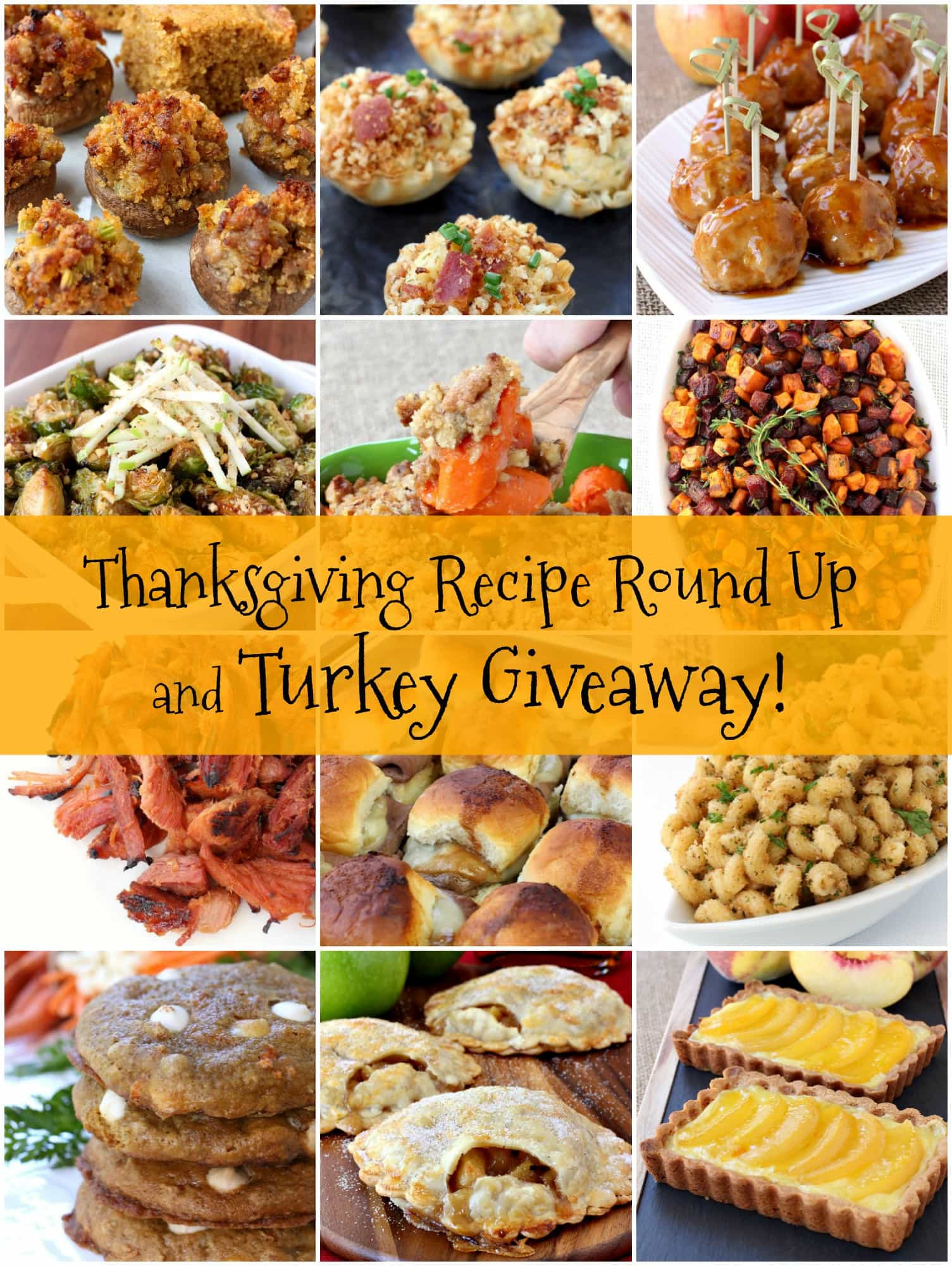 Thanksgiving Turkey Giveaway  Thanksgiving Recipe Round Up and Turkey Giveaway