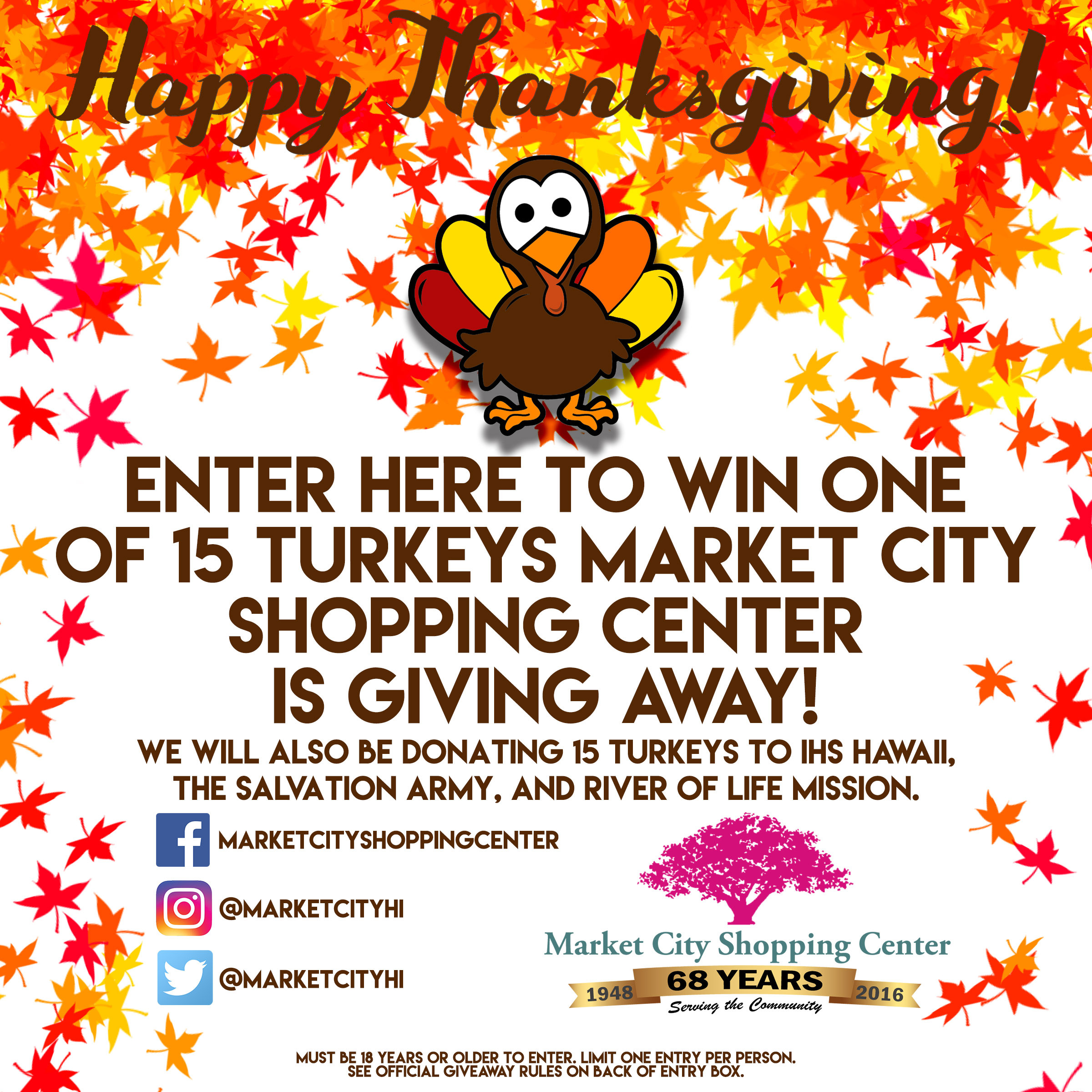 Thanksgiving Turkey Giveaway  Thanksgiving Turkey Giveaway Market City Shopping Center