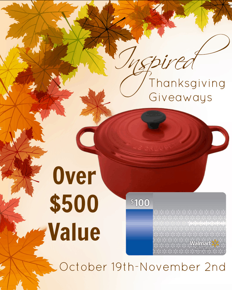 Thanksgiving Turkey Giveaway  Le Creuset Cookware Giveaway Life of a Homeschool Mom