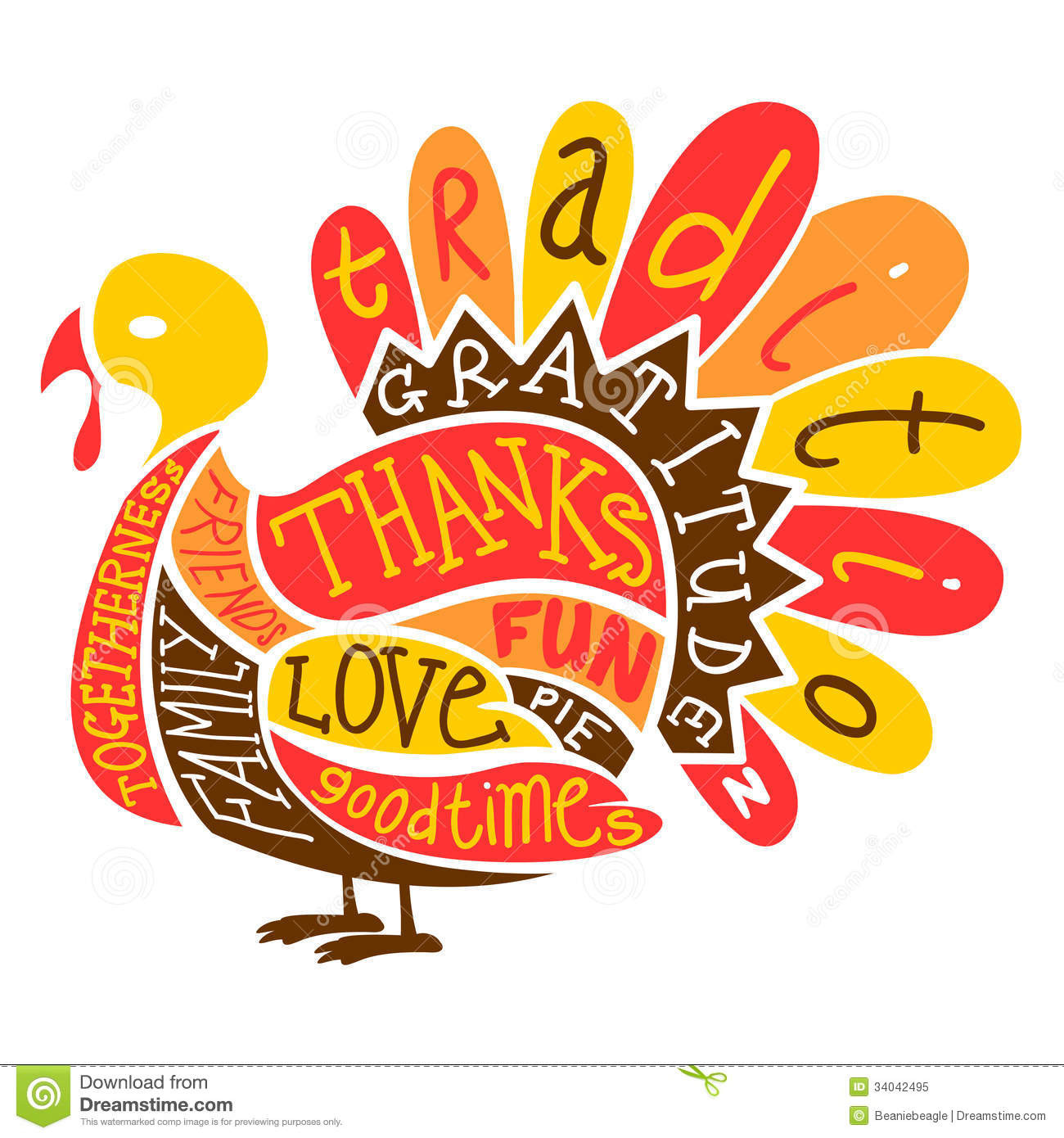"""Thanksgiving Turkey Image  New column """" Thanksgiving I'm thankful for the words"""