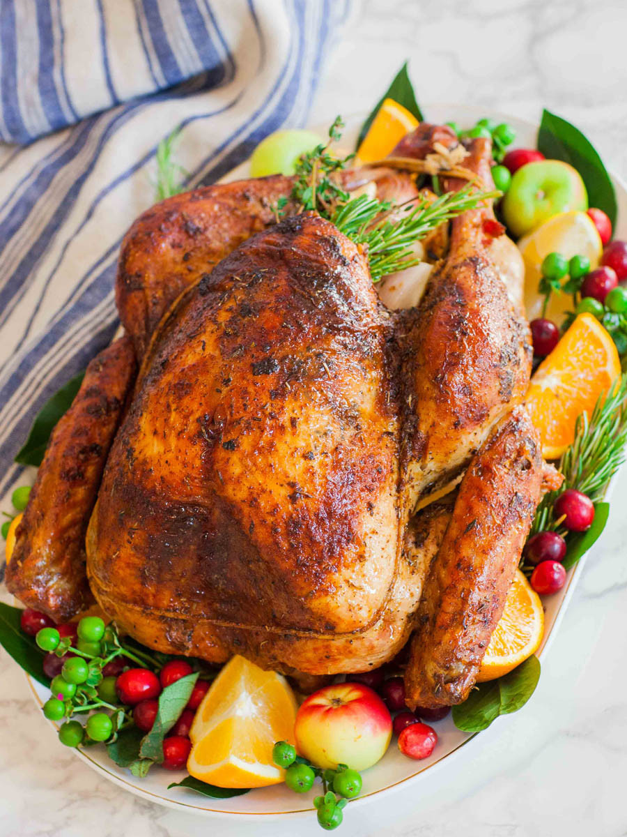 Thanksgiving Turkey Image  Tenting A Turkey & Fresh Herb And Salt Rubbed Roasted Turkey