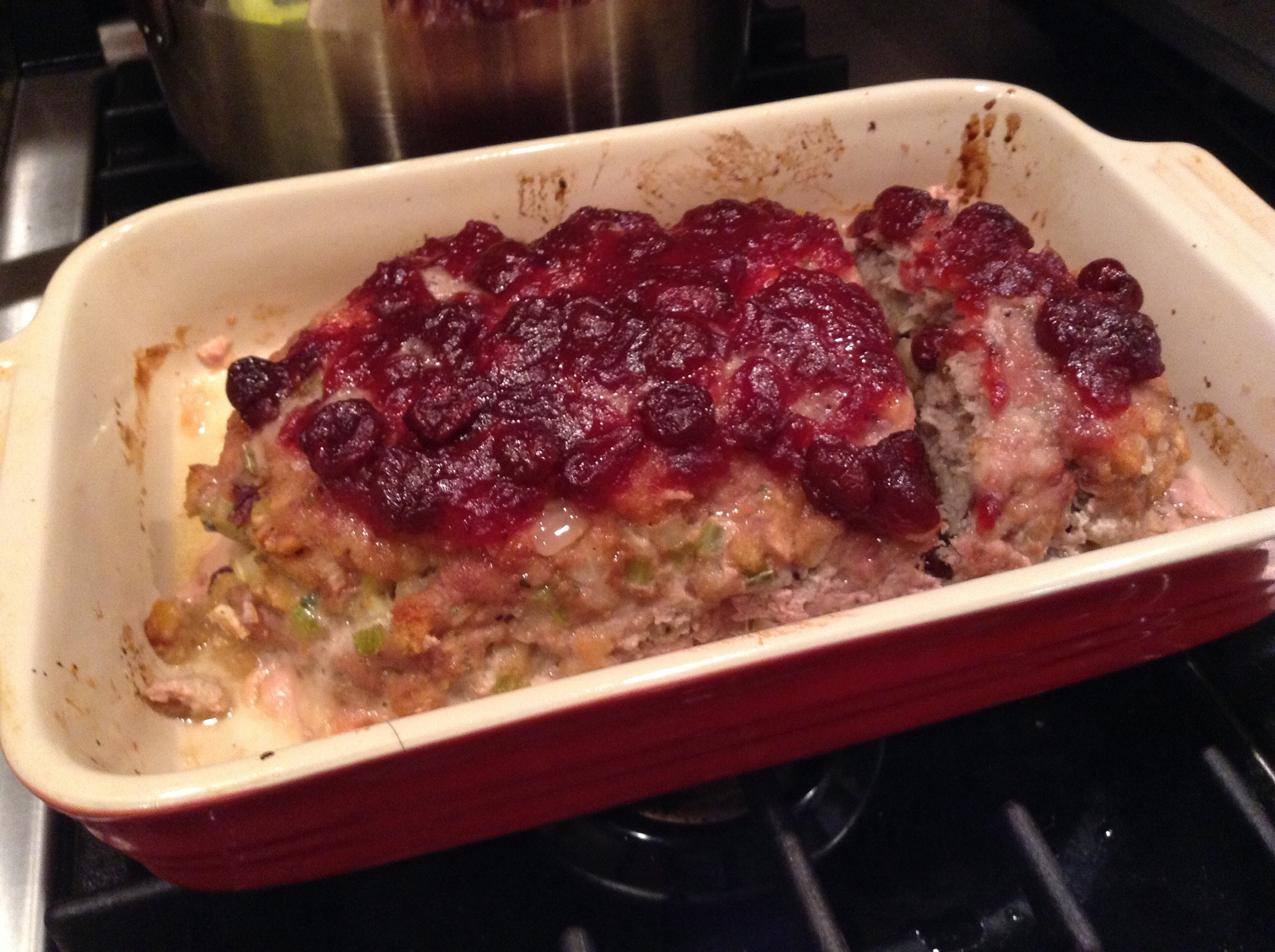 Thanksgiving Turkey Meatloaf  Thanksgiving Style Cranberry Turkey Meatloaf – Addictive
