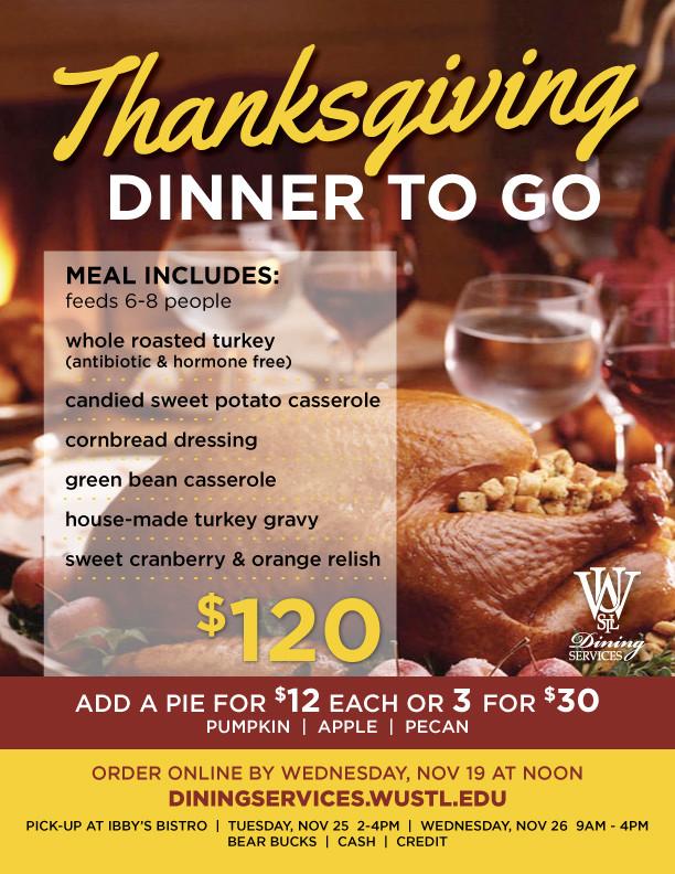 Thanksgiving Turkey Order  Order your Thanksgiving Dinner To Go